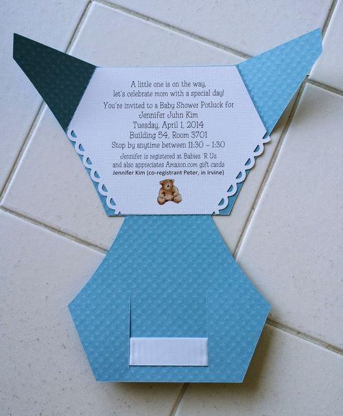Tuesday Customer Spotlight Cricut Explore Diaper Shaped Card