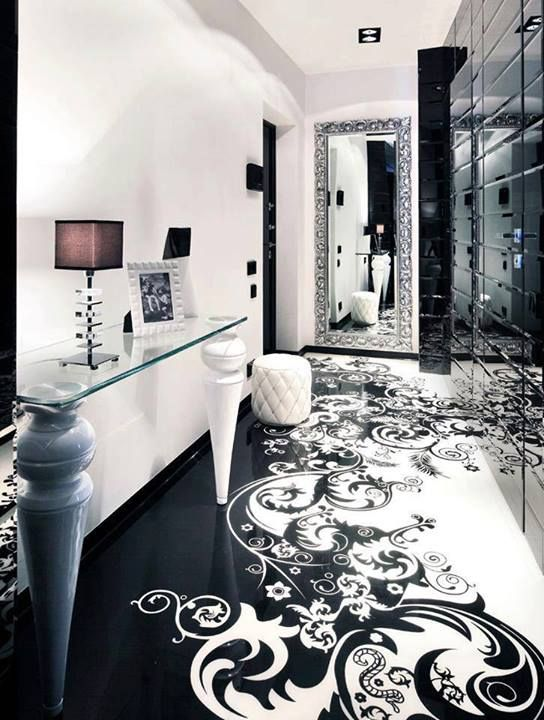 begovaya moderne wohnung schwarz weis, love the floor design, not the furniture though begovaya by, Design ideen