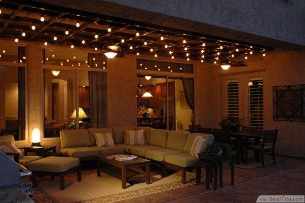 Risultati immagini per patio lights luci per giardino e terrazzo