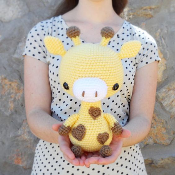 PATTERN: Cuddle-Sized Giraffe Amigurumi, Crocheted Giraffe Pattern ...