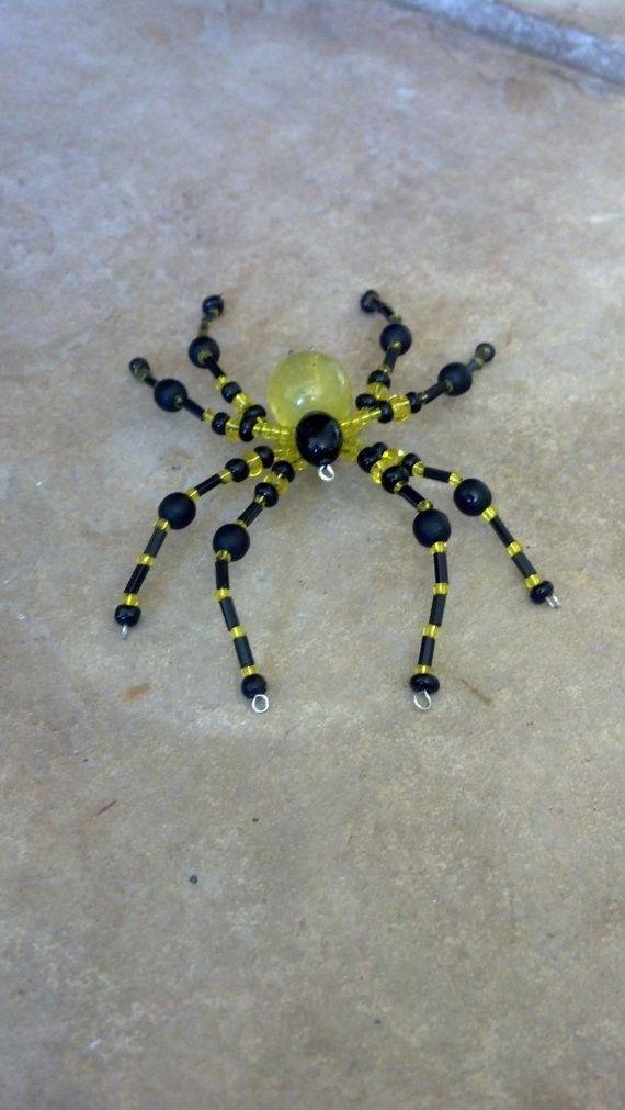große Perlen Spinne. Gelb und schwarz | cool stuff, gift ideas, DIY ...