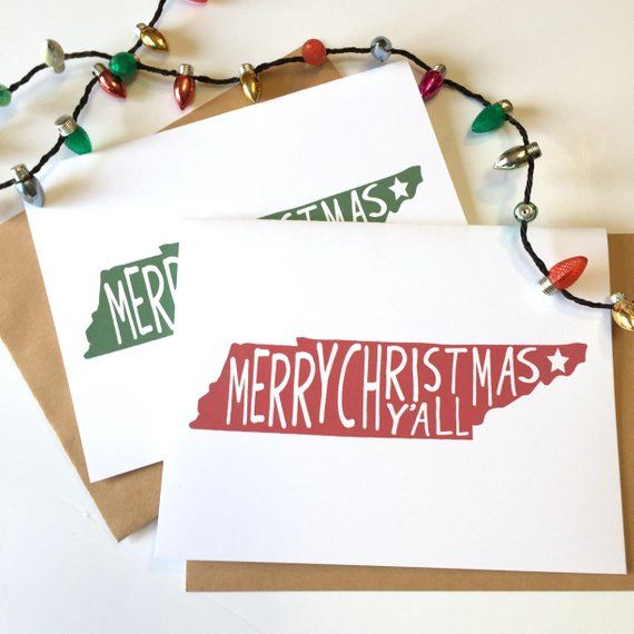 Tennessee Christmas, Tennessee Gift, Christmas Y\u0027all, Southern