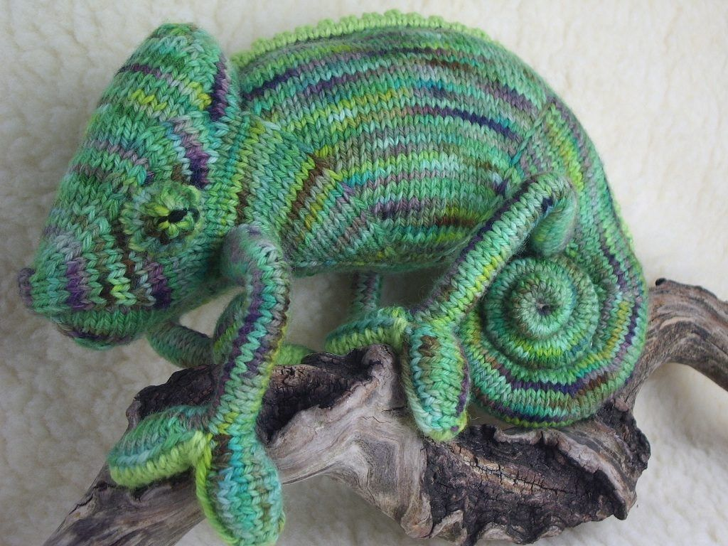 Amazing Knit Chameleon – He\'s a Champion Lounger and You Can Make ...