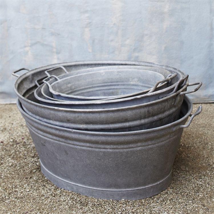 Really Versatile Vintage Galvanized Tubs Zinc