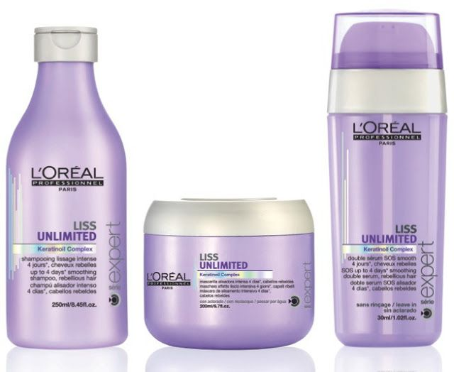 new l 39 oreal professionnel liss unlimited smoothing treatment our products pinterest. Black Bedroom Furniture Sets. Home Design Ideas