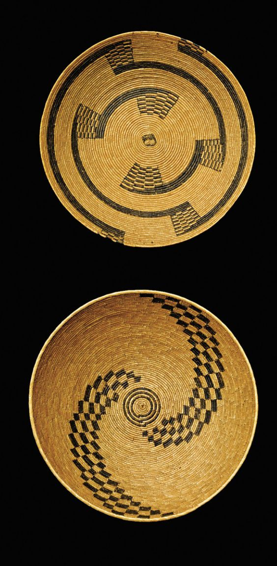 Africa | Collection of baskets from the Tutsi people of Rwanda or Burundi || Natural fibre and pigment: