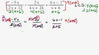 Solving an Equation with Fractions by Factoring then Clear