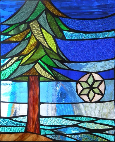 Stained Glass Mosaic Garden Art, Stained Glass Trees Images