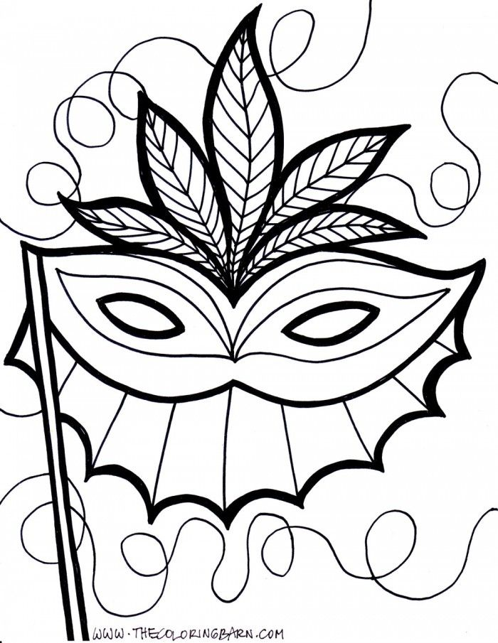 Mardi Gras Coloring Page Printable Coloring Book Sheet Online