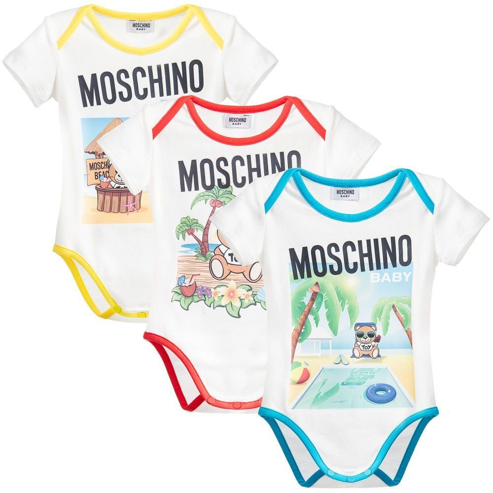 82bd3debf089 Moschino Baby 3-pack Rompers Gift Set