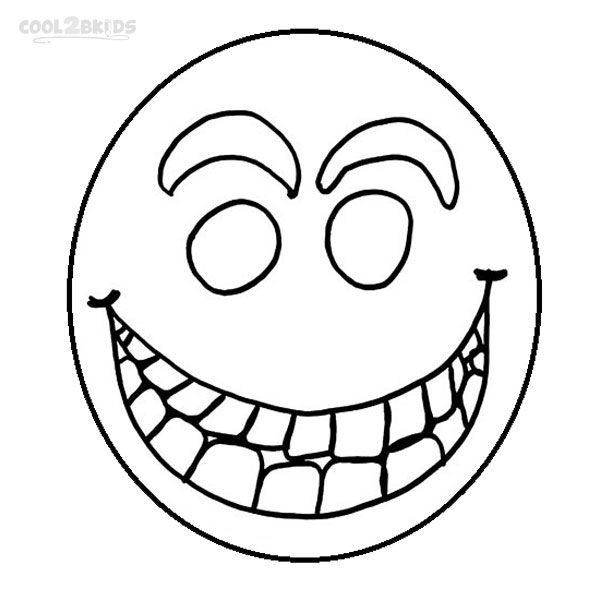 coloring book pages of childrens faces | Printable Smiley Face Coloring Pages For Kids | Cool2bKids ...