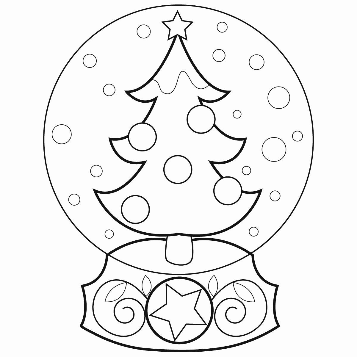 Snow Globe Coloring Page Beautiful Christmas Snow Globes