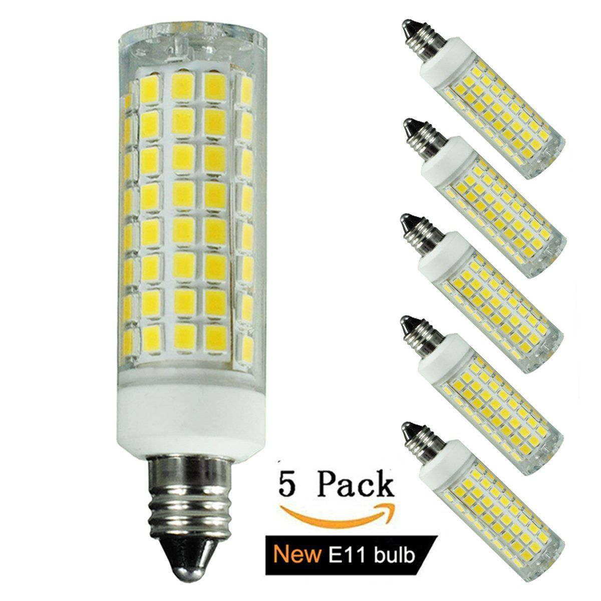 E11 Led Bulb 80w Or 110w Equivalent Halogen Replacement Lights Dimmable Mini Candelabra Base 1000 Lumens Daylight 6000k Ac110v 1 Led Bulb Bulb Light Bulb