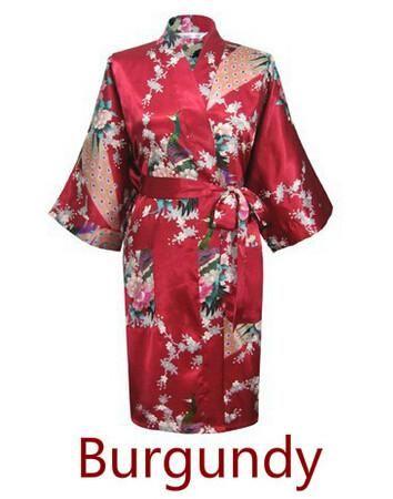 RB015 Satin Robes for Brides Wedding Robe Sleepwear Silk Pijama Casual Bathrobe  Animal Rayon Long Nightgown Women Kimono XXXL 3e0c44f4b