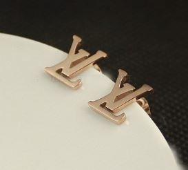 Louis Vuitton Clic Lv Logo Studs Stud Earrings