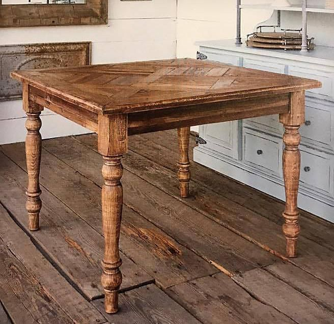 Park Hill Old Pine Parquet Topped Square Table Small Square