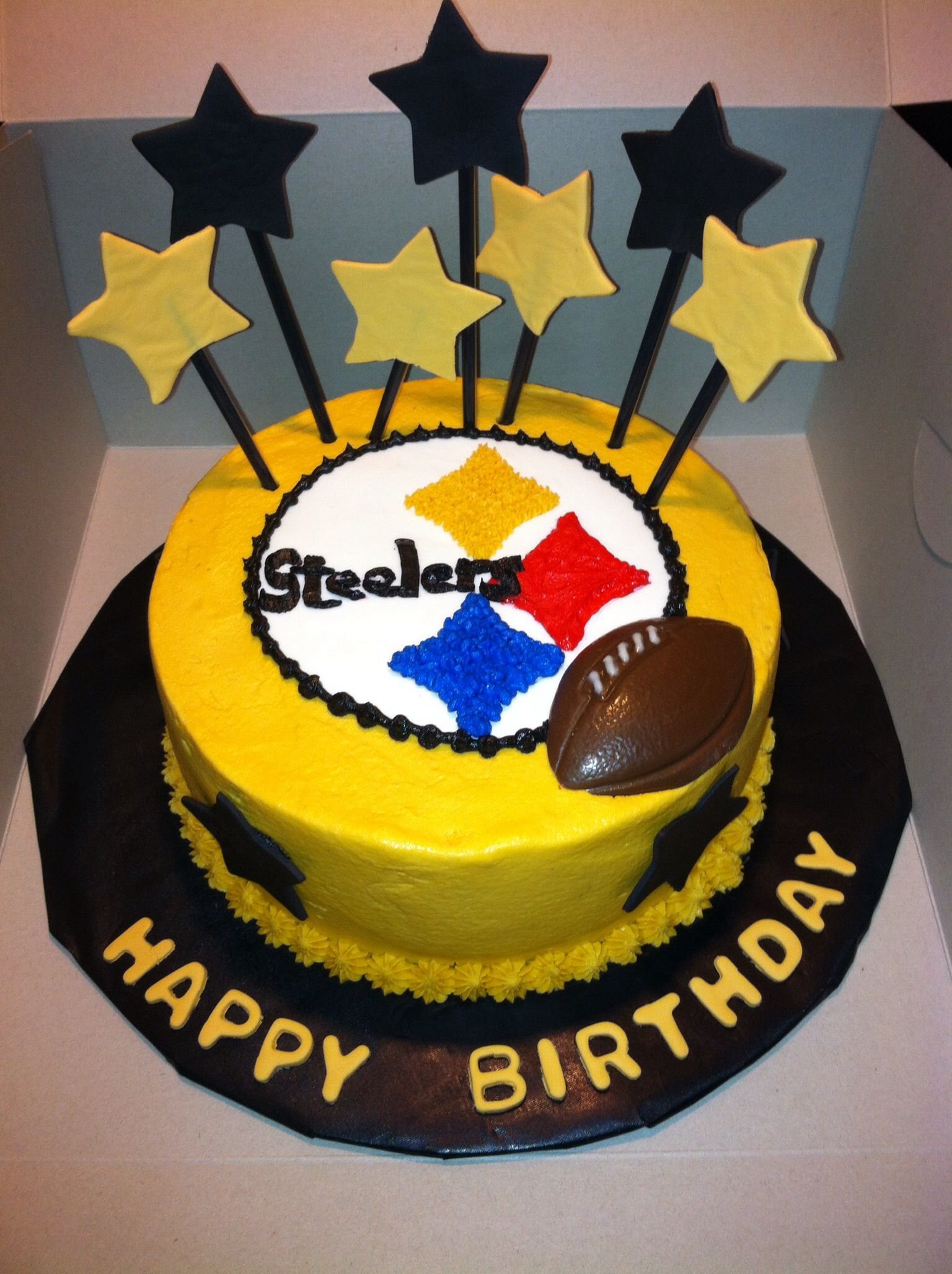 steelers birthday cake steelers cake things i made cake 7699