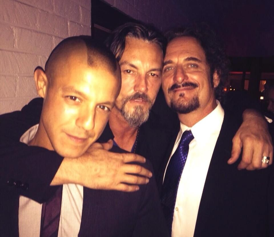 The 3 amigos (Theo,Tommy and Kim) via Theo Rossi on Twitter <3
