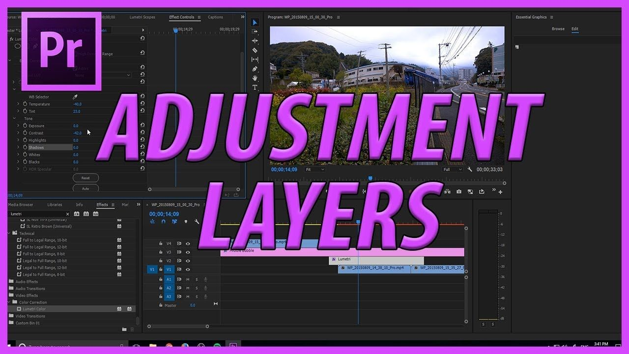 How To Use Adjustment Layers In Adobe Premiere Pro Cc 2017 With