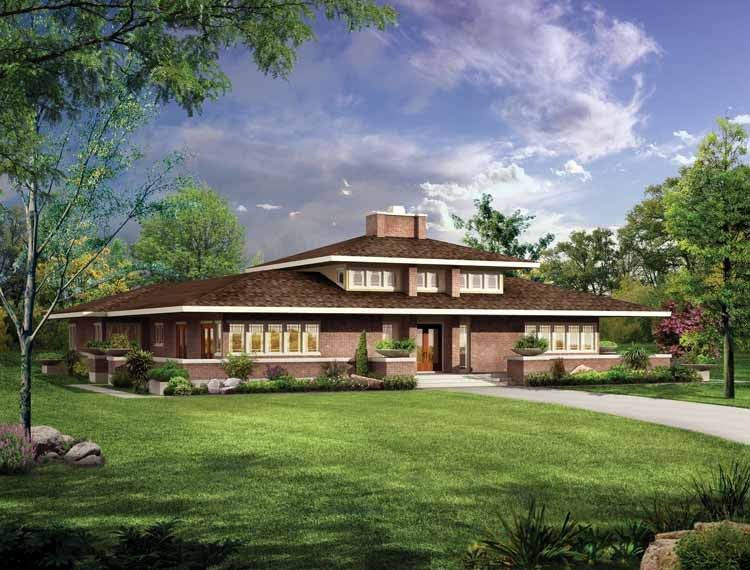 Eplans Prairie House Plan   Stylish Prairie Home   2626 Square Feet And 3  Bedrooms(