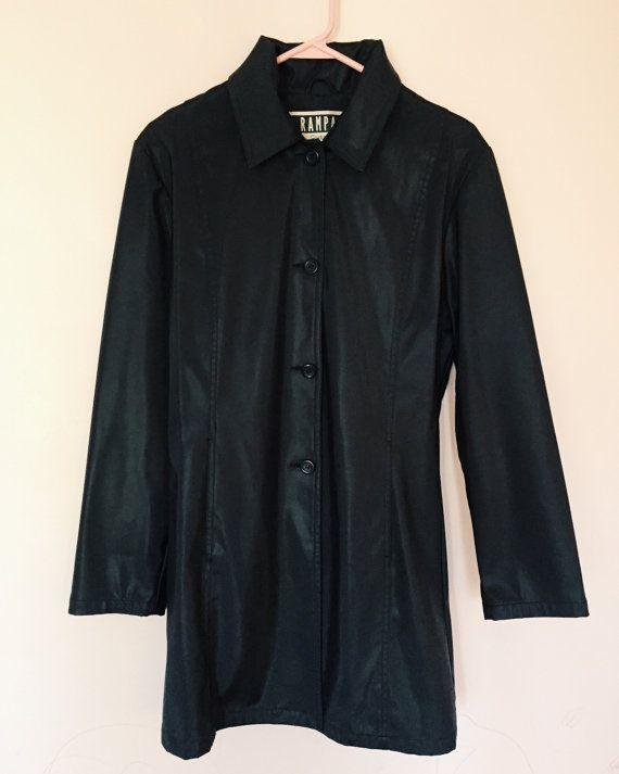 90s Vinyl Goth Witchy Trenchcoat