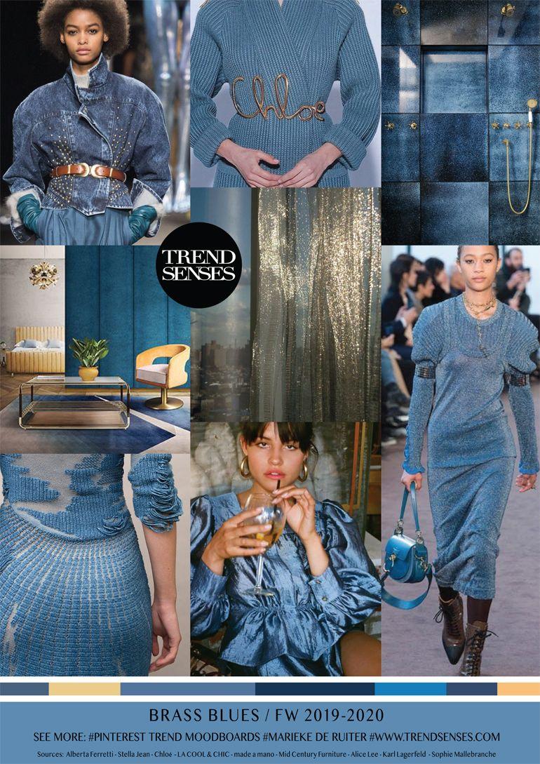 Fashion For 50 Year Old Woman 2020.Moodboard Brass Blues Fall Winter 2019 2020 Fashion