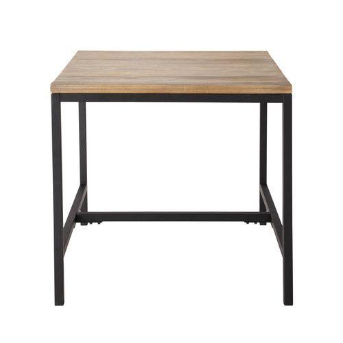 Table de cuisine indus carrée wish list Pinterest Tables de