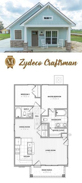 Living Sq Ft 868 Bedrooms 2 Baths 2 House plans Pinterest
