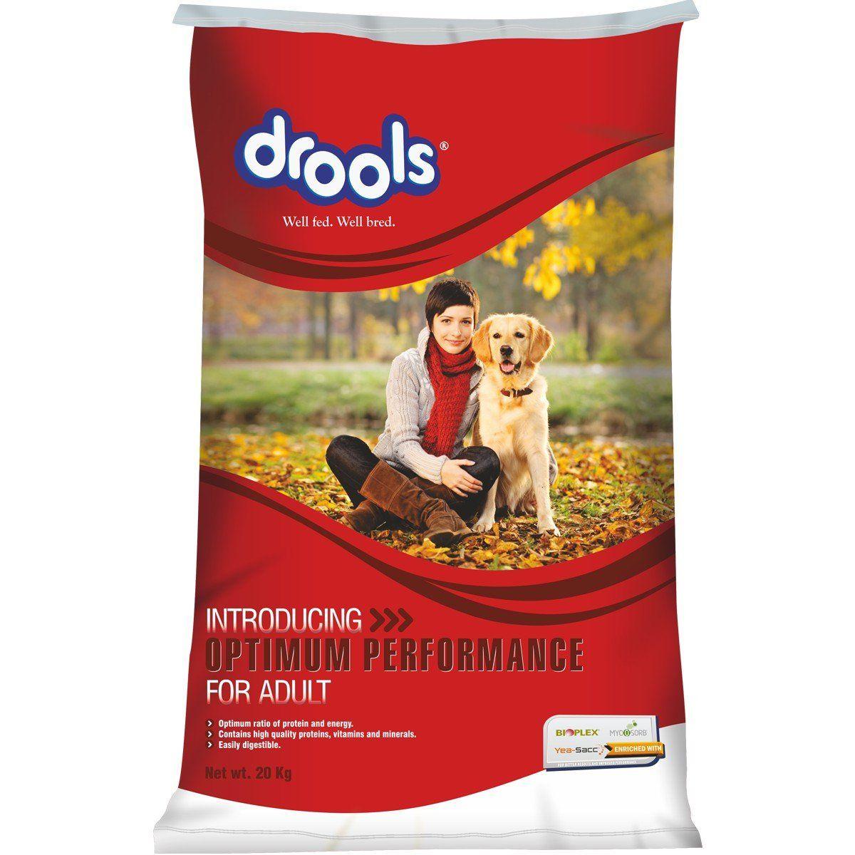 Buy Drools Optimum Performance Adult Dog Food 20kg Online At Low