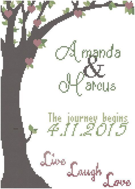 Spring Tree Cross Stitch Pattern, The journey begins cross stitch ...