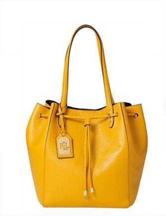 cfcaf984a635 Lauren Ralph Lauren Leather Oxford Tote