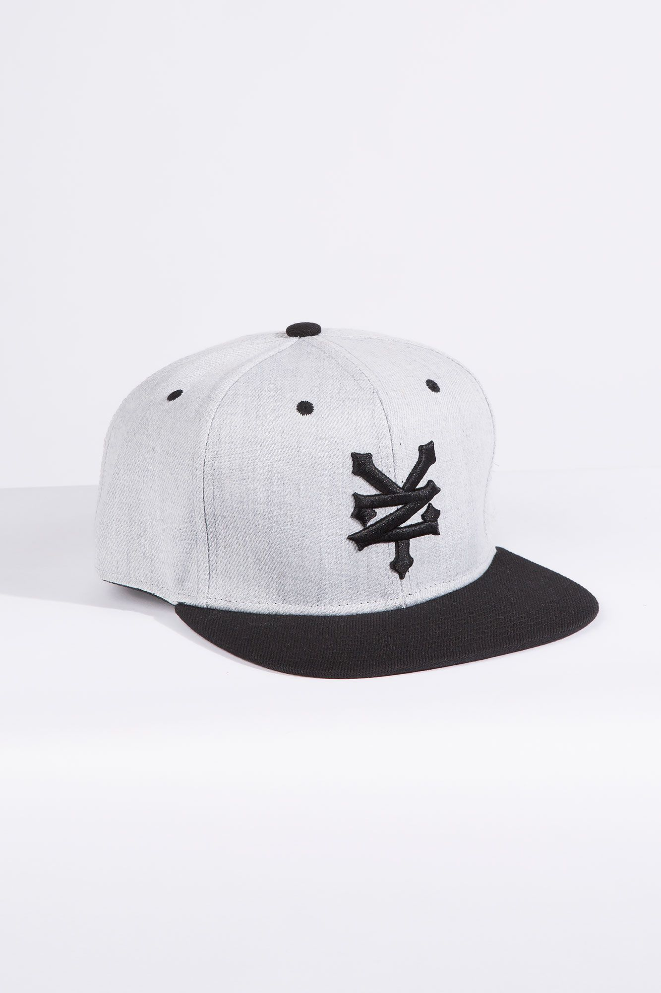 f03ddcedc69 Guys Black and Grey Zoo York Snapback Cap