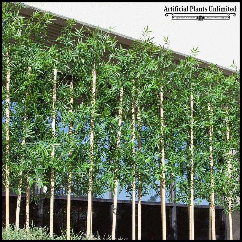 Outdoor Artificial Bamboo Divider In Soil Base Artificial Plants Outdoor Artificial Plants Small Artificial Plants