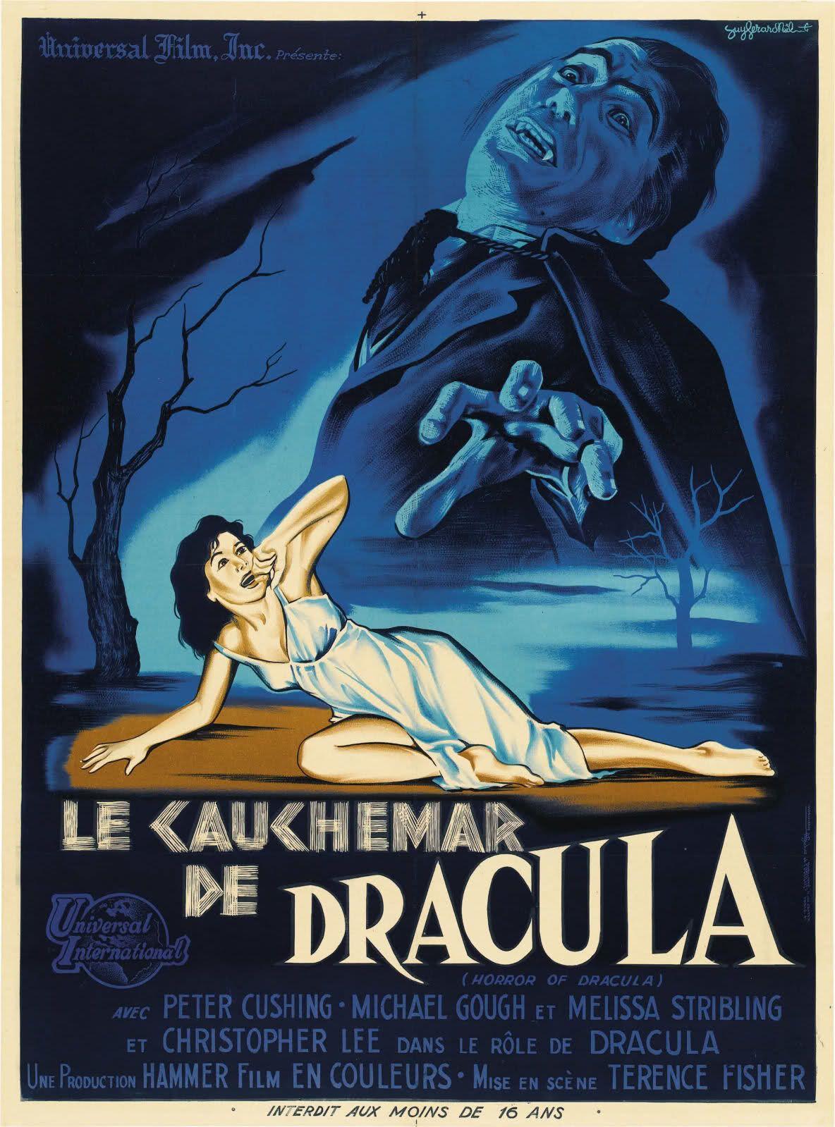 Horror of Dracula (Le cauchemar de Dracula) French Poster