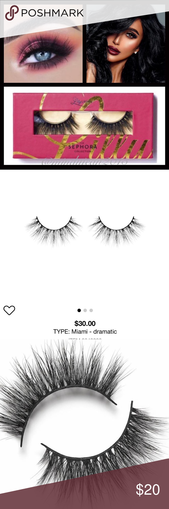 6ded0e307be Lily Lashes in Miami by Sephora New Authentic Pink packaging sealed A  collaboration with Lilly Lashes—a collection four styles of her  cruelty-free 3D mink ...