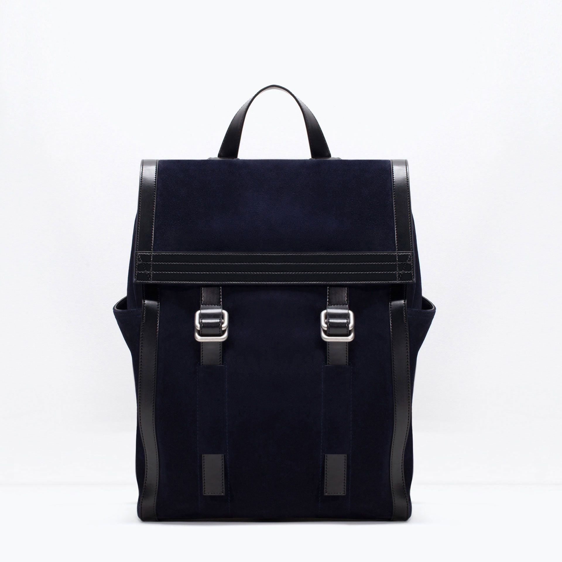 4ee441bb85 ZARA - COLLECTION SS15 - COMBINATION LEATHER RUCKSACK | Quirks and ...