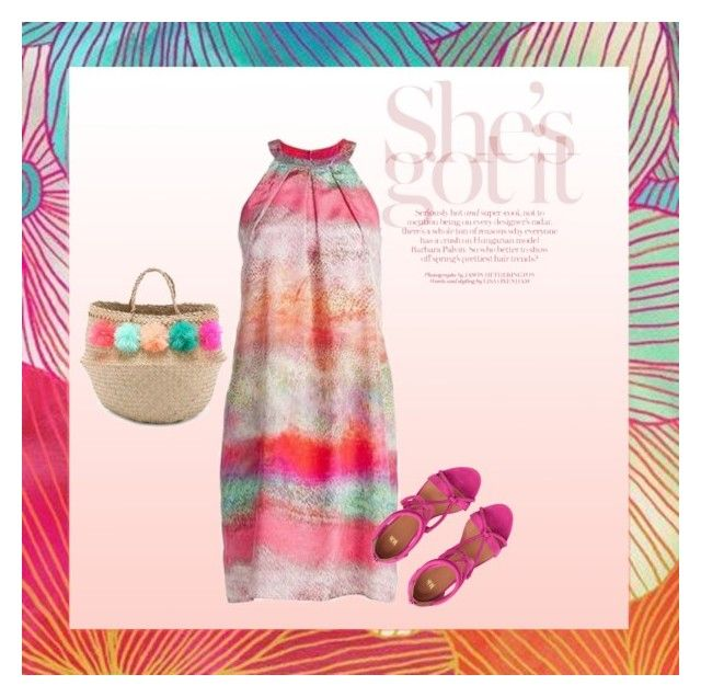 """""""She's got it"""" by anne-vg ❤ liked on Polyvore featuring Eliza Gran Studio and halterdresses"""