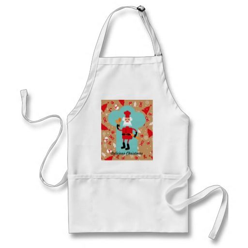 Santa Claus is baking Christmas cookies Aprons