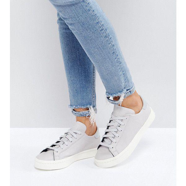 adidas Originals Court Vantage Sneakers In Pale Gray (€73 ...