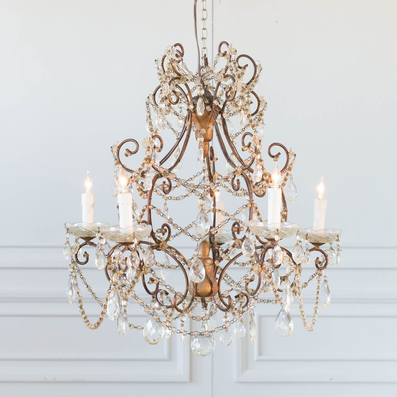 Antique French Glass Crystal Chandelier Chvp13093 In 2019 French