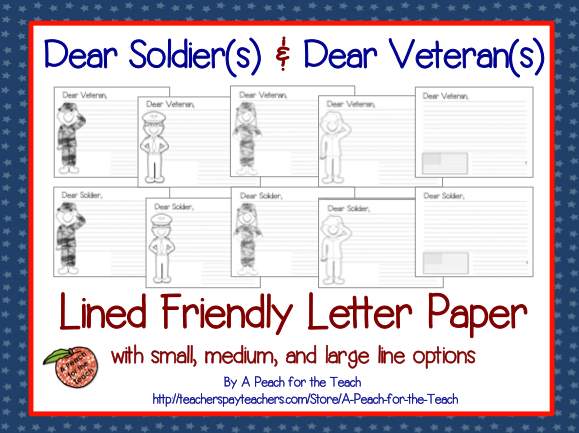 Veterans Day Friendly Letter Format With Multiple Branches Of The