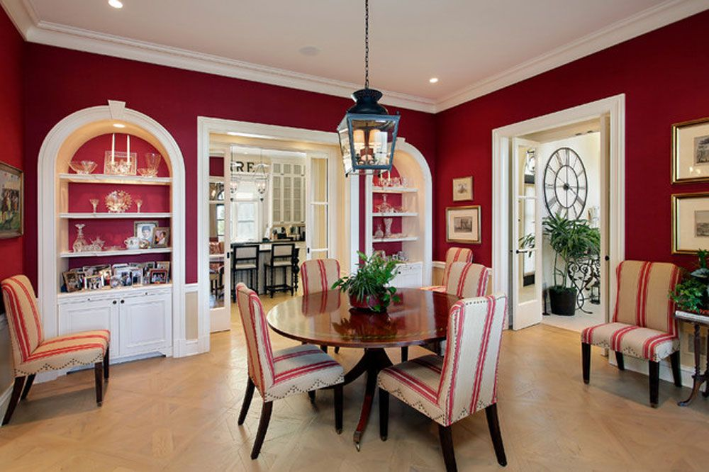 Meaning of red color in interior design and decorating ideas also all rh pinterest