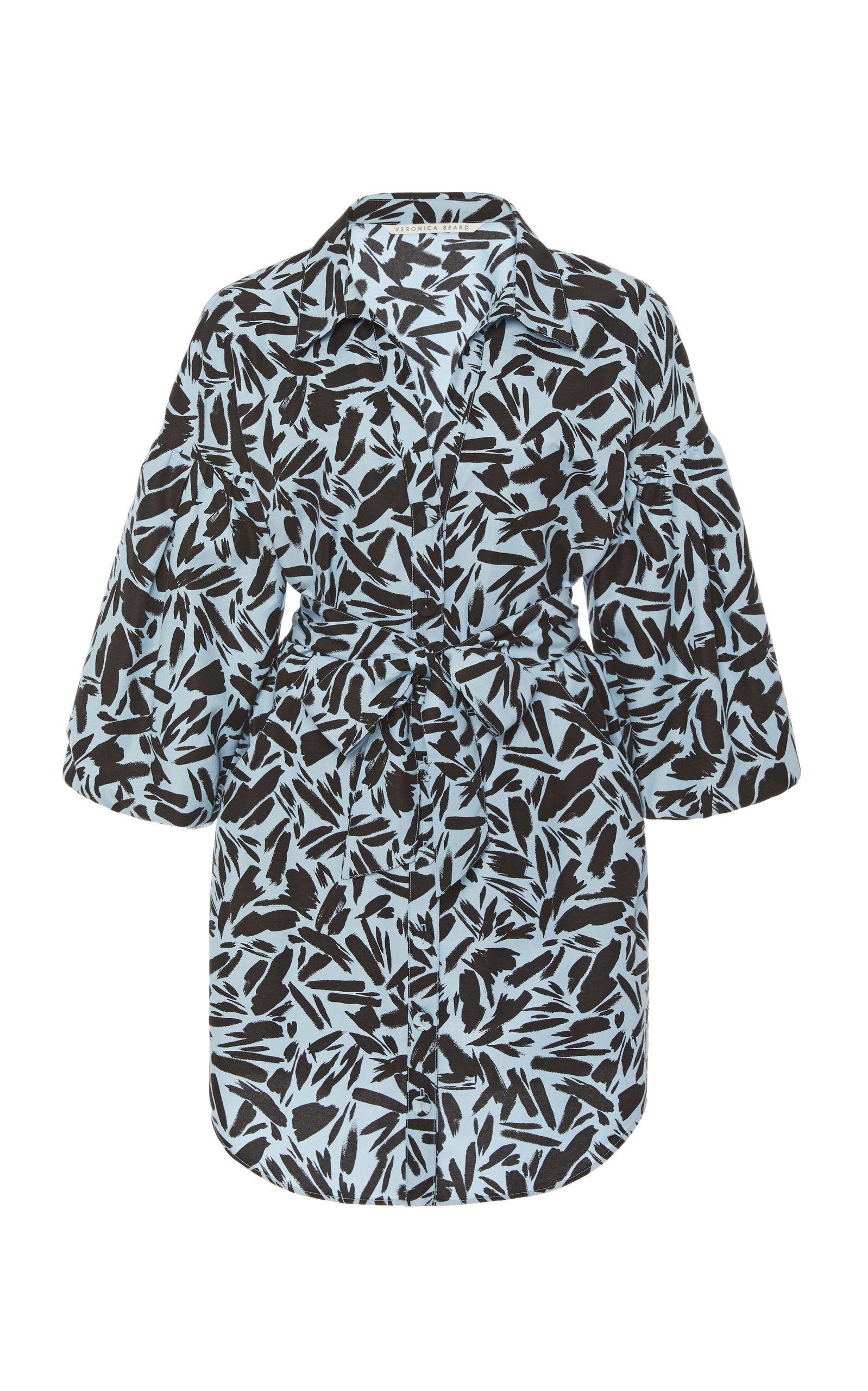 Veronica Beard Samy Printed Wrap Dress | Khaki shirt dress