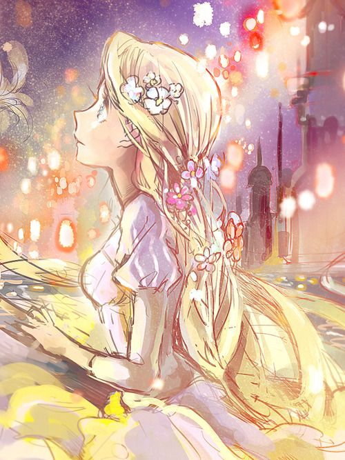 "Tale as Old as Time — usagiholic: Rapunzel. Artist: ""Fly"" Seriously,..."