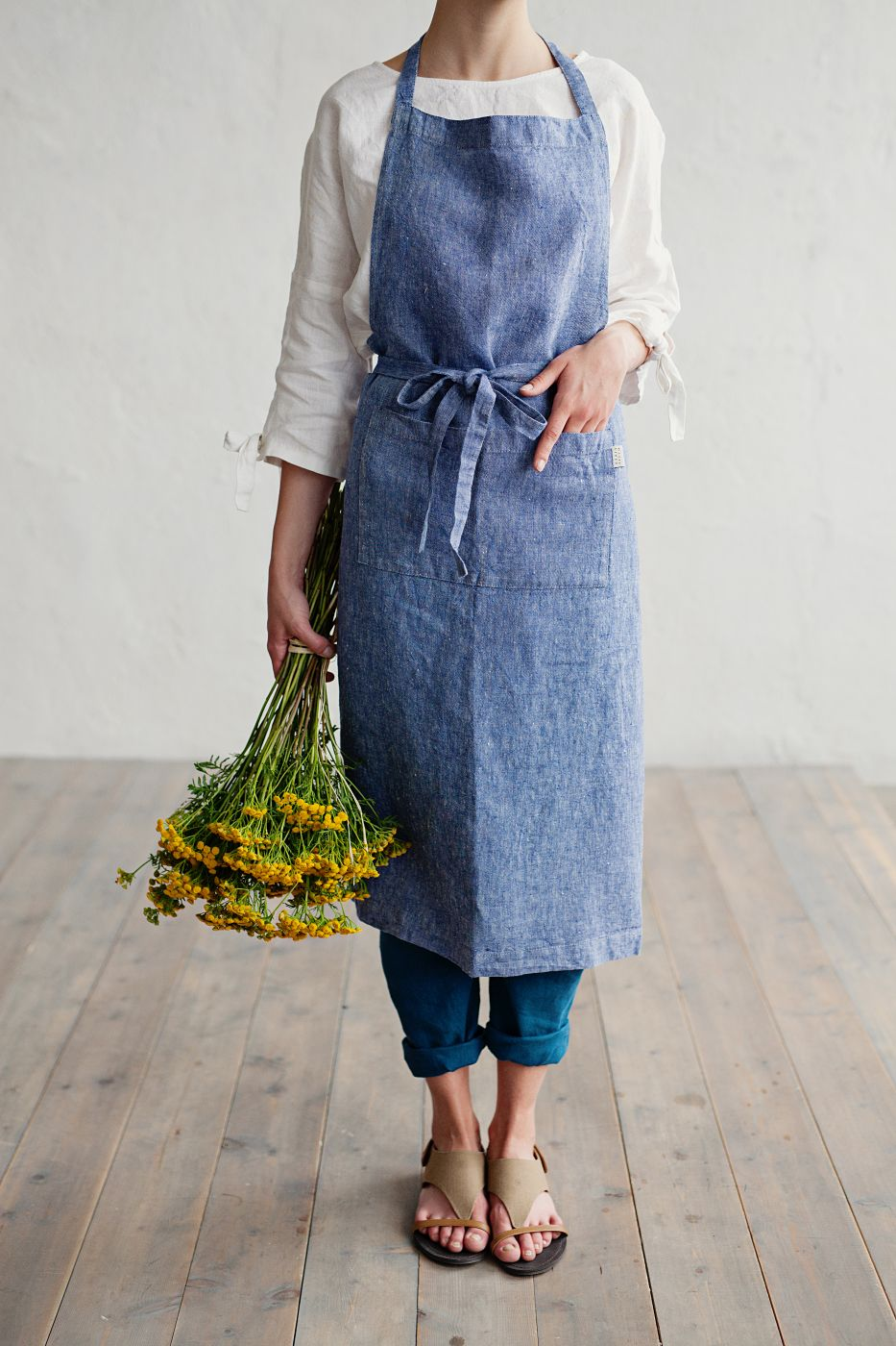 Lightweight stone washed kitchen apron for creative experiments in ...
