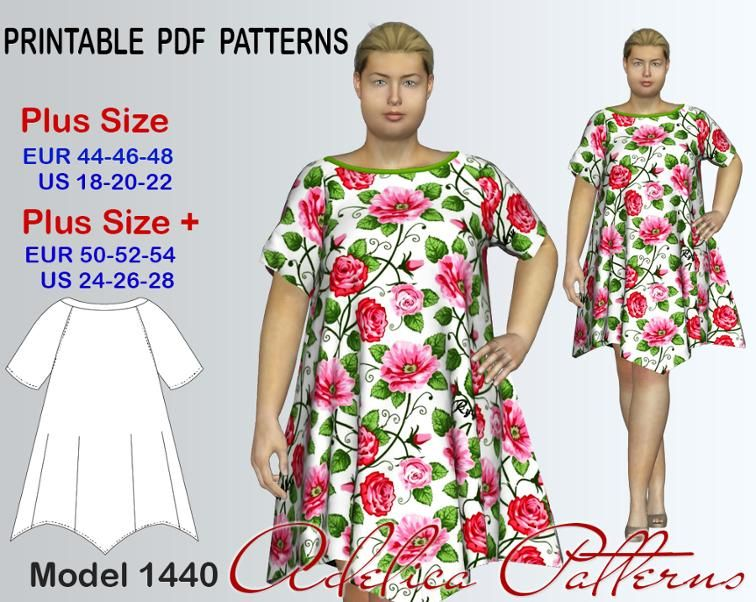 1ee3734d20 Loose Fitting Summer dress pattern for sizes 18-28
