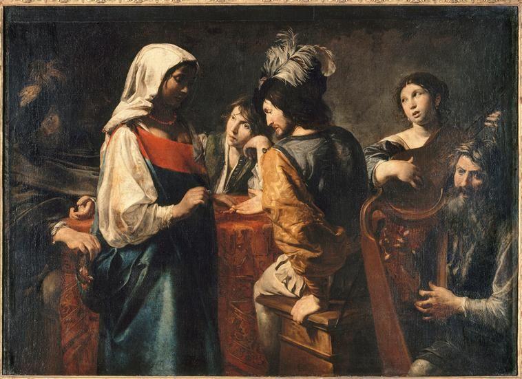 Valentin de Boulogne - La Diseuse de bonne aventure / The Fortune Teller, circa 1628,   Musée du Louvre  (France - Paris)