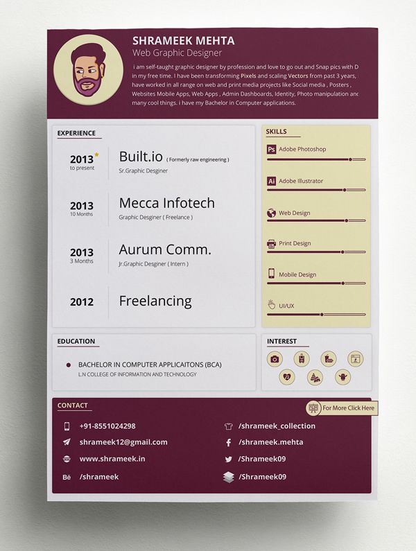 Creative Cv  Resume Template  Free Stuff    Cv Resume