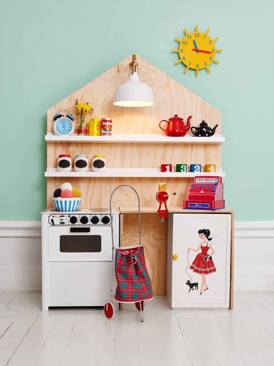 Kids wooden play kitchen  Pin by Nina on Children  Pinterest  Plays Kitchens and Kids rooms