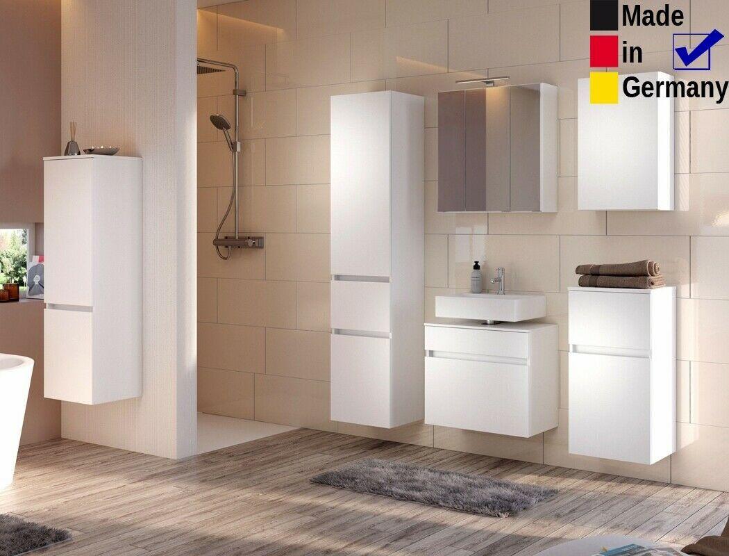Badezimmer Britt 24 Weiss 6 Teilig 3d Spiegelschrank Led Badmobel In 2020 Spiegelschrank Led Spiegelschrank Badezimmer